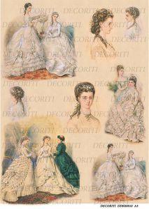 Декупажная карта DECORITI, DDK 00010 (Примерка свадебного платья), формат А3  ― HandMadeDecor