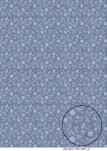 Декупажная карта DECORITI, DDK 00024 (Белые прозрачные цветы на серо-синем), формат А3   ― HandMadeDecor