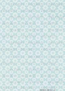 Декупажная карта DECORITI, A4 DDK 00037 ( Винтажные снежинки), формат А4    ― HandMadeDecor