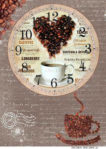 Декупажная карта DECORITI, DDK 00046 (Время пить кофе), формат А3     ― HandMadeDecor
