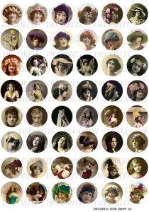 Декупажная карта DECORITI, DDK 00099 (Круглые медальоны - фото-портреты), формат А3  ― HandMadeDecor