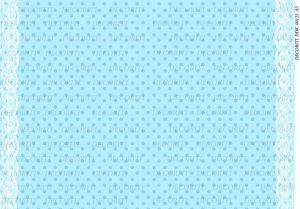 Декупажная карта DECORITI, DDK 00123 (Горошек на голубом), формат А3  ― HandMadeDecor