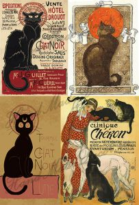 Рисовая бумага с рисунком А2А 0010, формат А4, Парижские кошки ― HandMadeDecor