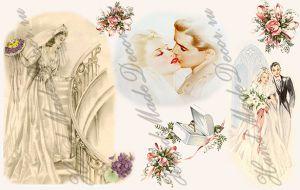 Рисовая бумага с рисунком А2А 0044, формат А4, Ах, эта свадьба... ― HandMadeDecor