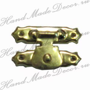 Замок накладной, золото, 26х16 мм (с крепежом) ― HandMadeDecor