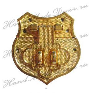 Замок накладной, золото, 40х41 мм (с крепежом) ― HandMadeDecor