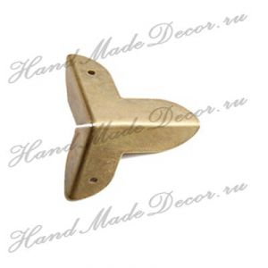 Комплект декоративных уголков для шкатулки, цвет бронза, 22х22 мм (без крепежа) ― HandMadeDecor