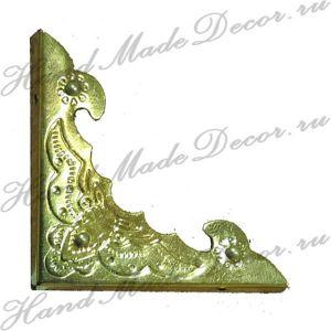 Комплект декоративных уголков для шкатулки, цвет золото, 40х40х4 мм  (без крепежа) ― HandMadeDecor