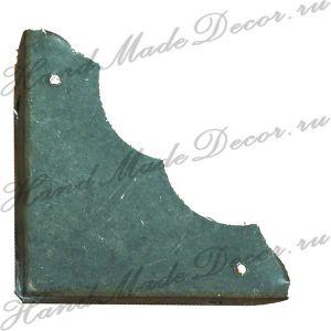 Комплект декоративных уголков для шкатулки, цвет античная бронза, 56х25 мм  (с крепежом)  ― HandMadeDecor