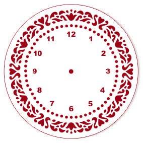 "Трафарет EVENT DESIGN пластиковый многоразовый ""Элегант, диаметр 15 - 25"", диаметр 15см ― HandMadeDecor"