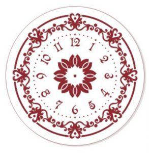 "Трафарет EVENT DESIGN пластиковый многоразовый ""Элегант, диаметр 25 - 02"", диаметр 25см ― HandMadeDecor"