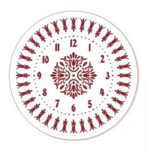 "Трафарет EVENT DESIGN пластиковый многоразовый ""Элегант, диаметр 25 - 04"", диаметр 25см  ― HandMadeDecor"