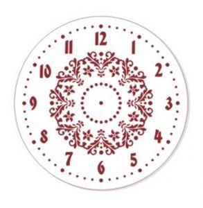 "Трафарет EVENT DESIGN пластиковый многоразовый ""Элегант, диаметр 25 - 13"", диаметр 25см ― HandMadeDecor"