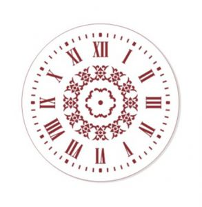 "Трафарет EVENT DESIGN пластиковый многоразовый ""Элегант, диаметр 25 - 16"", диаметр 25см  ― HandMadeDecor"