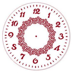 "Трафарет EVENT DESIGN пластиковый многоразовый ""Элегант, диаметр 25 - 34"", диаметр 25см ― HandMadeDecor"