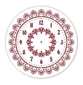"Трафарет EVENT DESIGN пластиковый многоразовый ""Элегант, диаметр 30 - 01"", диаметр 30см ― HandMadeDecor"