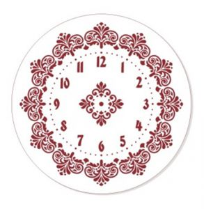 "Трафарет EVENT DESIGN пластиковый многоразовый ""Элегант, диаметр 30 - 05"", диаметр 30см    ― HandMadeDecor"