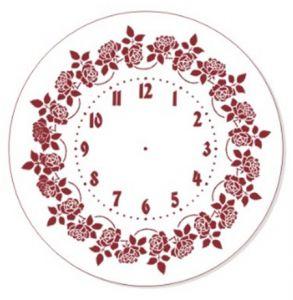 "Трафарет EVENT DESIGN пластиковый многоразовый ""Элегант, диаметр 30 - 06"", диаметр 30см  ― HandMadeDecor"