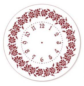 "Трафарет EVENT DESIGN пластиковый многоразовый ""Элегант, диаметр 30 - 07"", диаметр 30см  ― HandMadeDecor"