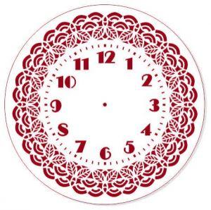"Трафарет EVENT DESIGN пластиковый многоразовый ""Элегант, диаметр 30 - 14"", диаметр 30см  ― HandMadeDecor"