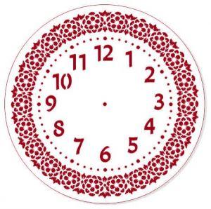 "Трафарет EVENT DESIGN пластиковый многоразовый ""Элегант, диаметр 30 - 16"", диаметр 30см  ― HandMadeDecor"