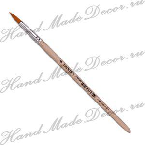 Кисть круглая синтетика №5, короткая светлая ручка ― HandMadeDecor