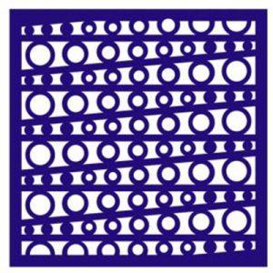 "Трафарет-маска EVENT DESIGN пластиковый МСК-023 ""Горошинки"", размер 15х15см ― HandMadeDecor"