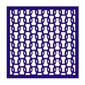 "Трафарет-маска EVENT DESIGN пластиковый МСК-047 ""Петли"", размер 15х15см  ― HandMadeDecor"