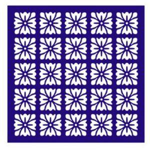 "Трафарет-маска EVENT DESIGN пластиковый МСК-052 ""Цветы в квадрате"", размер 15х15см  ― HandMadeDecor"