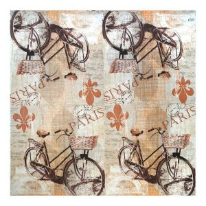 Салфетка для декупажа, 0426, 33х33см, Парижский велосипед, сепия ― HandMadeDecor