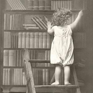 Салфетка для декупажа, 0535, 33х33 см, Почему самые интересные книжки прячут так высоко? Sagen ― HandMadeDecor
