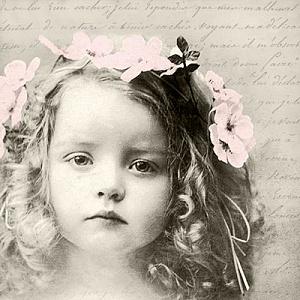 Салфетка для декупажа, 0549, 33х33 см, Милая девочка Sagen ― HandMadeDecor