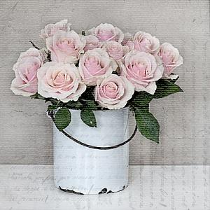 Салфетка для декупажа, 0565, 33х33 см, Корзина с розами Sagen ― HandMadeDecor