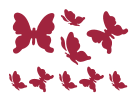 Трафарет STAMPERIA, Бабочки, 20х15см  ― HandMadeDecor
