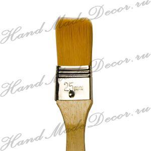 """Кисть золотистая синтетика """"Sonnett"""" ФЛЕЙЦ №50,  деревянная ручка покрытая лаком  ― HandMadeDecor"""