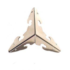 Комплект декоративных уголков для шкатулки, цвет серебро, 29х29 мм  (без крепежа) ― HandMadeDecor