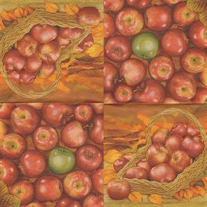 Салфетка для декупажа, 0308, 33х33 см, Аппетитные яблочки ― HandMadeDecor