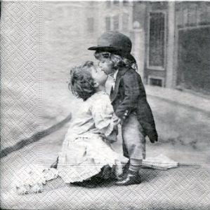 Салфетка для декупажа, 0721, 33х 33 см, Поцелуй Sagen ― HandMadeDecor