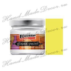 Витражная краска Pentart на основе органического растворителя, 30 мл, желтый ― HandMadeDecor