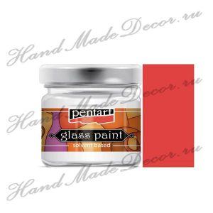 Витражная краска Pentart на основе органического растворителя, 30 мл, красный ― HandMadeDecor