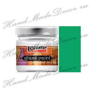 Витражная краска Pentart на основе органического растворителя, 30 мл, зеленый ― HandMadeDecor