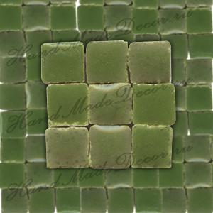 Мозаика керамическая глазурованная мини Rayher, 10г, 5х5х3 мм, упаковка ок.100 шт.,цвет 448 темно-зеленый  ― HandMadeDecor