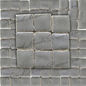 Мозаика керамическая глазурованная мини Rayher, 10г, 5х5х3 мм, упаковка ок.100 шт.,цвет 558 серый  ― HandMadeDecor