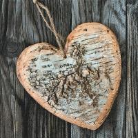 Салфетка для декупажа, 1170, Деревянное сердце ― HandMadeDecor