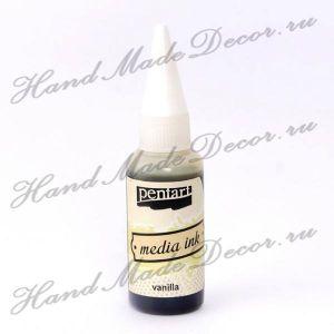 Красящие чернила на спиртовой основе Pentart Media Ink, цвет ваниль, 20 мл  - срок до 11.2023 ― HandMadeDecor