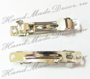 Заколка для волос, цвет серебристый, 4 см , 1 шт ― HandMadeDecor
