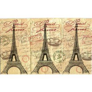 Салфетка для декупажа, 3759, большой платок, Эйфелева башня ― HandMadeDecor
