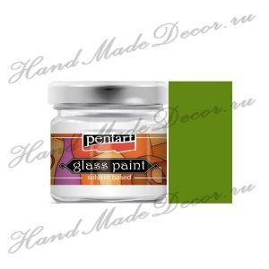 Витражная краска Pentart на основе органического растворителя, 30 мл, оливковый  - срок до 04.2024 ― HandMadeDecor