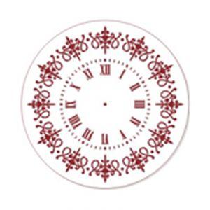 "Трафарет EVENT DESIGN пластиковый многоразовый ""Элегант, диаметр 30 - 03"", диаметр 30см ― HandMadeDecor"