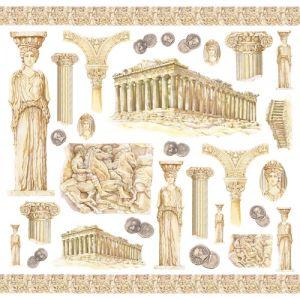 Рисовая салфетка STAMPERIA, арт. DFT202, 50х50см - Древняя Греция ― HandMadeDecor